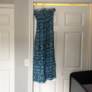 Mudd blue strapless dress